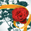 The roses day, a tradition on april 23th, in Catalonia, Spain — Stock Photo #5344386