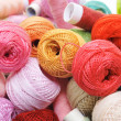 Crochet thread and sewing thread — Stock Photo