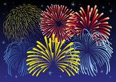 Firework vector illustration. — Stock Vector