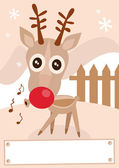 Reindeer holiday winter season vector illustration. — Stock Vector