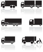 Truck or van symbol vector set. — Stock Vector