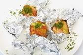 Bakad potatis — Stockfoto