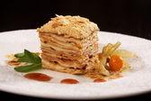 Dessert napoleon — Stock Photo