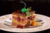 Cherry cheesecake chocolate — Stock Photo
