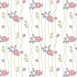 Seamless roses pattern with lines — Grafika wektorowa