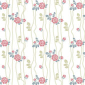 Seamless roses pattern with lines — Stock Vector