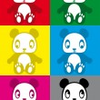 Royalty-Free Stock Vectorielle: Cute colorful panda sticker