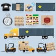 Stock Vector: Delivery icons set