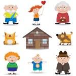 Family icon set — Stock Vector