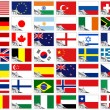 Flags of the world set — Stock Vector