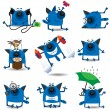 Royalty-Free Stock Vector Image: Funny cats set