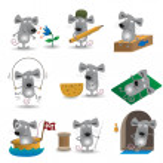 Funny mice set — Stock Vector