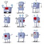 Funny robots set — Stock Vector #5122237
