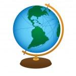 Terrestrial globe — Stock Vector