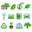 Environment icon set — Stock Vector