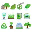 Environment icon set — Image vectorielle