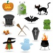 Stock Vector: Halloween vector icons set