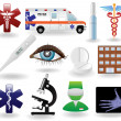 Medical icons and symbols set — Stock Vector #5122273