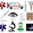 Stock Vector: Medical icons and symbols set