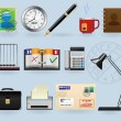 Office icons set — Stock Vector