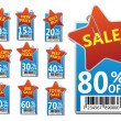 Sale labels set — Stock Vector #5122307