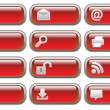 Royalty-Free Stock Vector Image: Shiny red Internet  buttons set