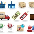 Shopping icons set — Stock Vector #5122332