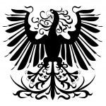Silhouette of heraldic eagle — Stock Vector #5122335