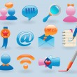 Social media icons set - Stock Vector