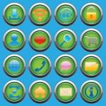 Internet Web glossy icons set — Stock Vector