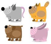 Domestic animals set — Stock Vector