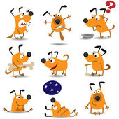 Funny dogs set — Stock Vector