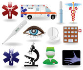 Medical icons and symbols set — Stock Vector
