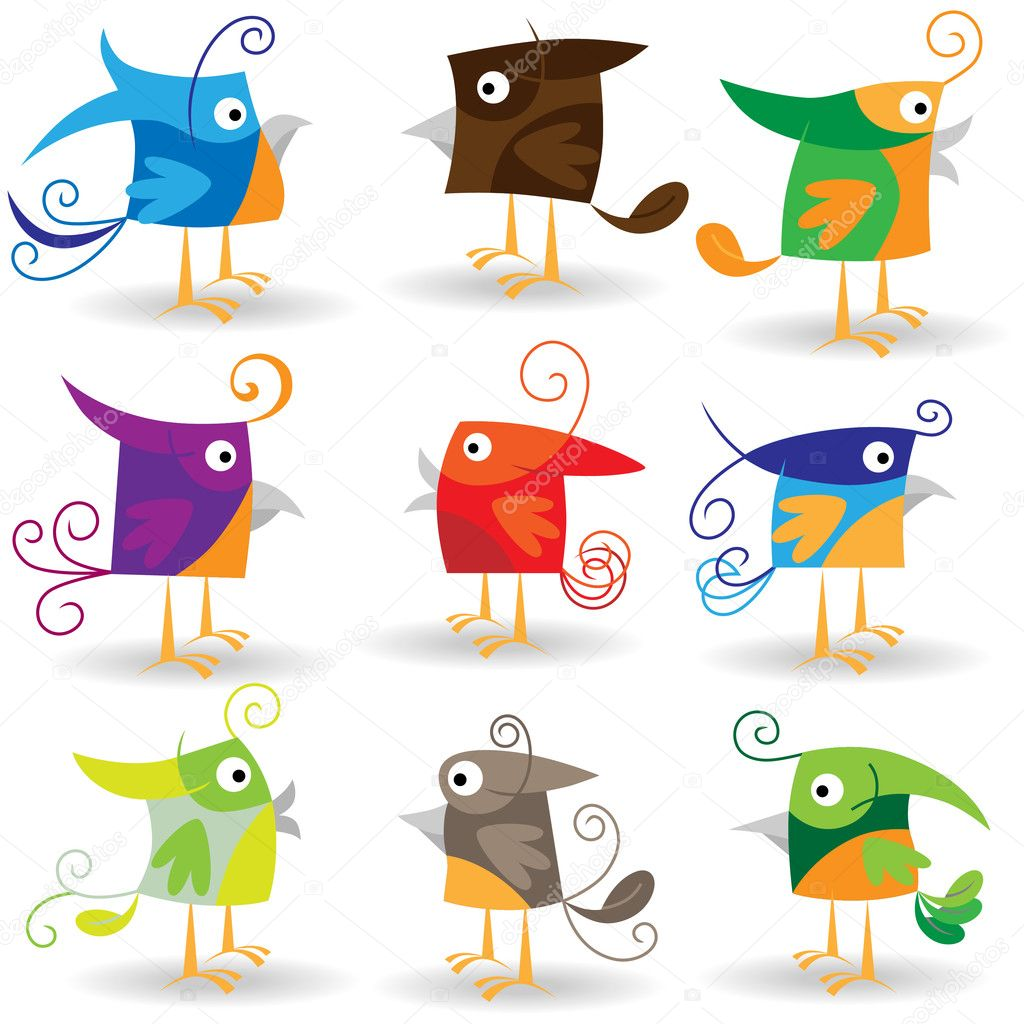 Funny Cartoons Birds Funny Cartoon Birds Collection