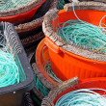 Colourful Fishermen ropes — Stock Photo