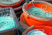 Colourful Fishermen ropes — Stock Photo