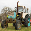 Stock Photo: Old wheeled tractor
