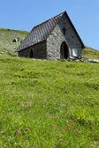 Little chapel in mountain — Stock Photo
