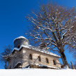 Winter church - Stock Photo