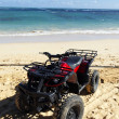Quad on the beach — Stock fotografie