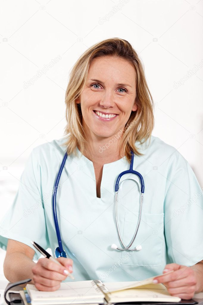 Doctor with pen — Stock Photo #4979889
