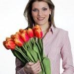 Tulip woman — Stock Photo