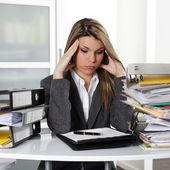 Zmęczona kobieta — Zdjęcie stockowe