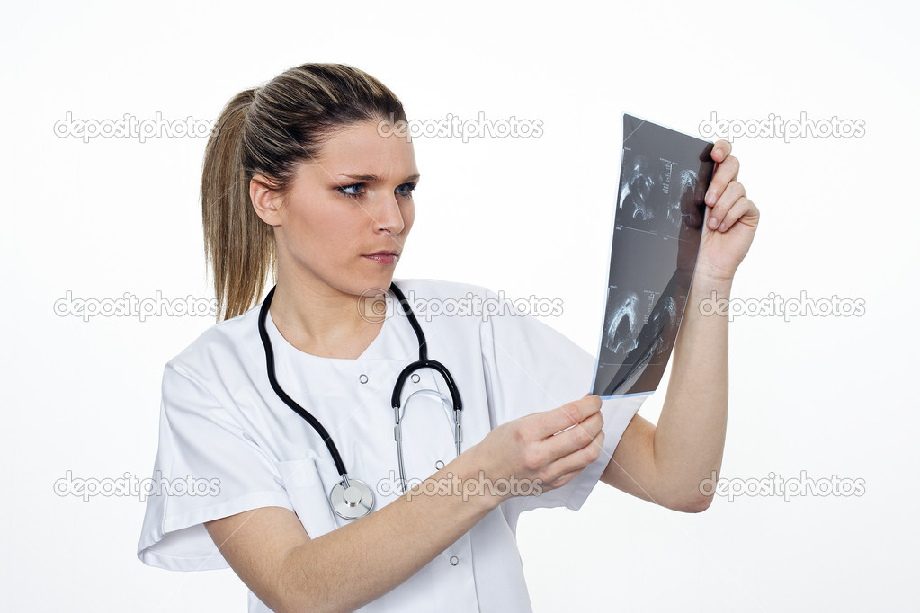Radiologist woman  Stock Photo #5075138