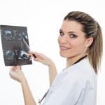 Radiologist woman in studio — Stock Photo