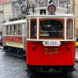Red tram — Stock Photo