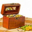 Candies are in a box — Stock Photo