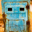 Royalty-Free Stock Photo: Crisis old rusty blue mailbox