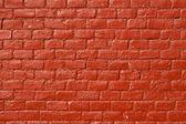 Rött tegel vägg — Stockfoto