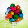 Royalty-Free Stock Photo: Easter colorful eggs in glass